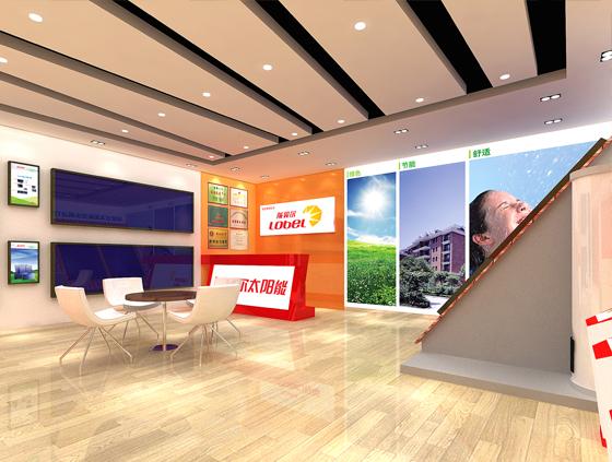 陇贝尔太阳能 40平米专卖店设计